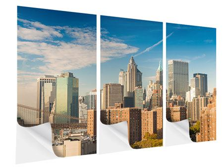 Klebeposter 3-teilig Skyline New York