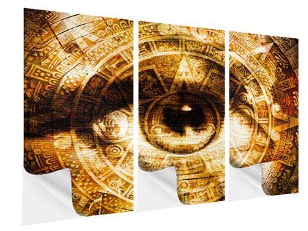 Klebeposter 3-teilig Fraktales Auge