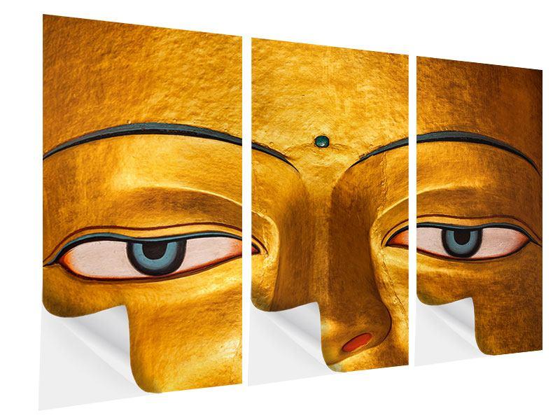 Klebeposter 3-teilig Die Augen eines Buddhas