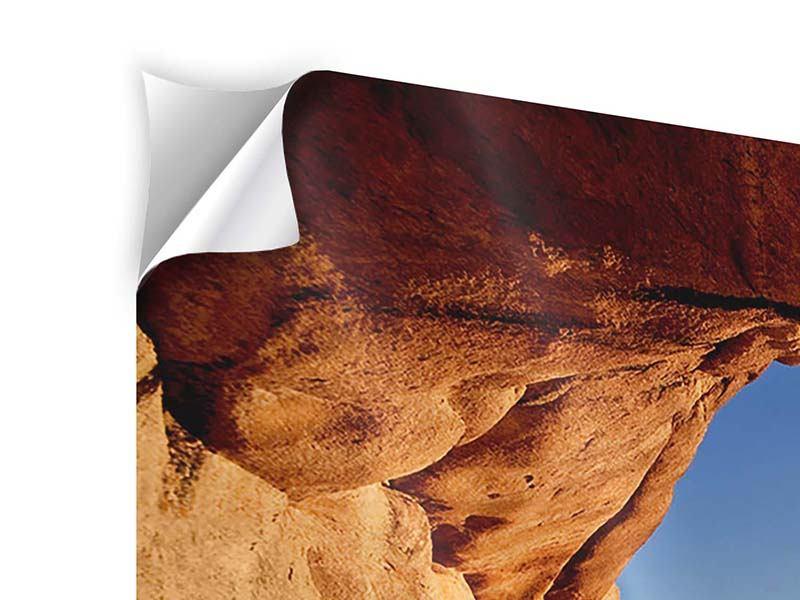 Klebeposter 3-teilig Sonnenuntergang vor der Höhle