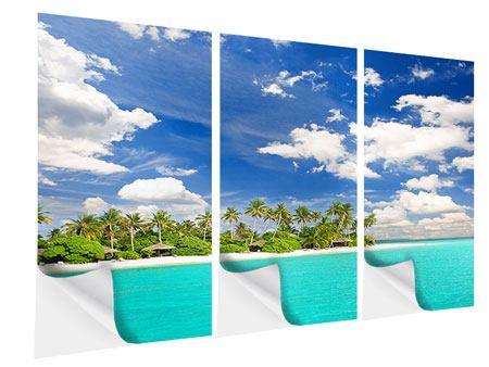 Klebeposter 3-teilig Meine Insel