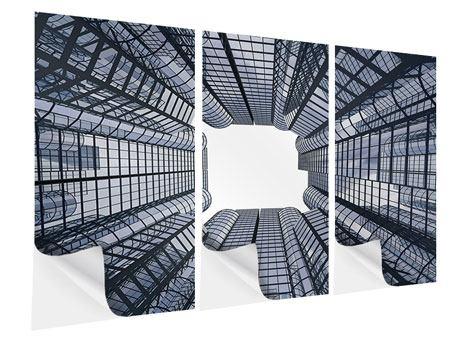 Klebeposter 3-teilig Besondere Perspektive