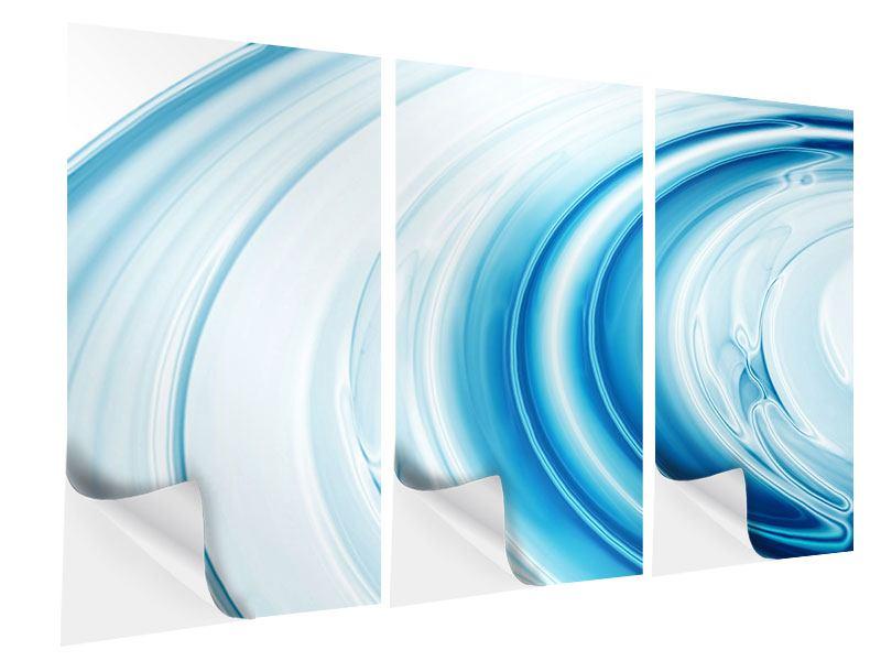 Klebeposter 3-teilig Abstraktes Glas