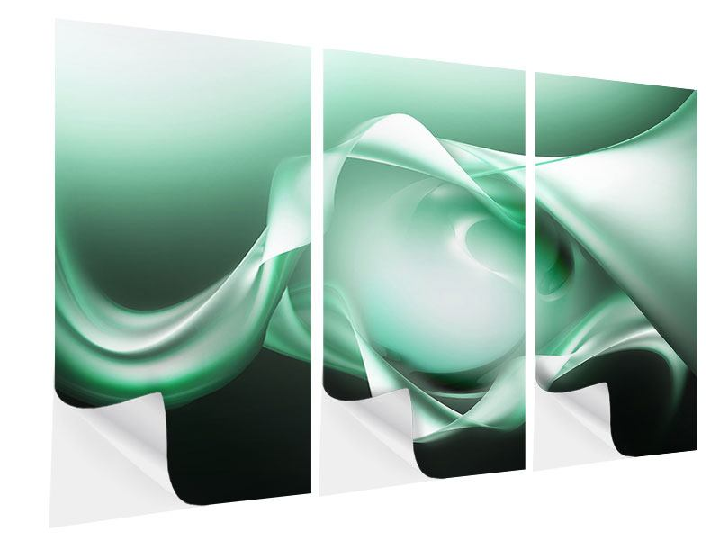 Klebeposter 3-teilig Abstrakt Tuchfühlung