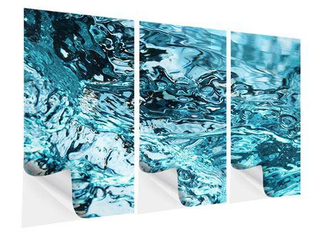 Klebeposter 3-teilig Schönheit Wasser