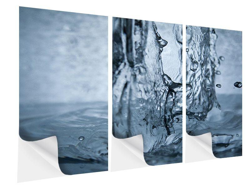 Klebeposter 3-teilig Wasserdynamik