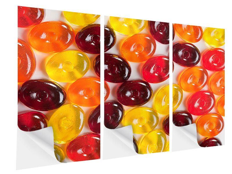 Klebeposter 3-teilig Bonbons