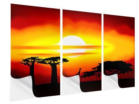 Klebeposter 3-teilig Faszination Afrika
