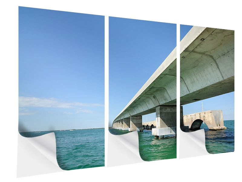 Klebeposter 3-teilig Seven Mile Bridge