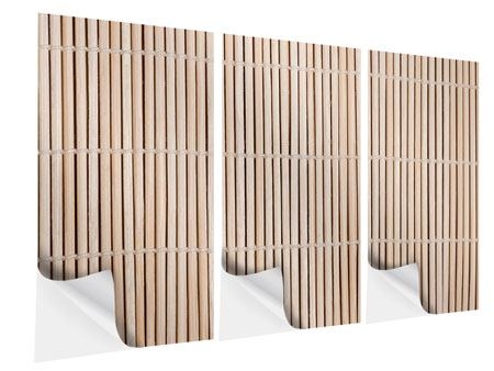 Klebeposter 3-teilig Lucky Bamboo