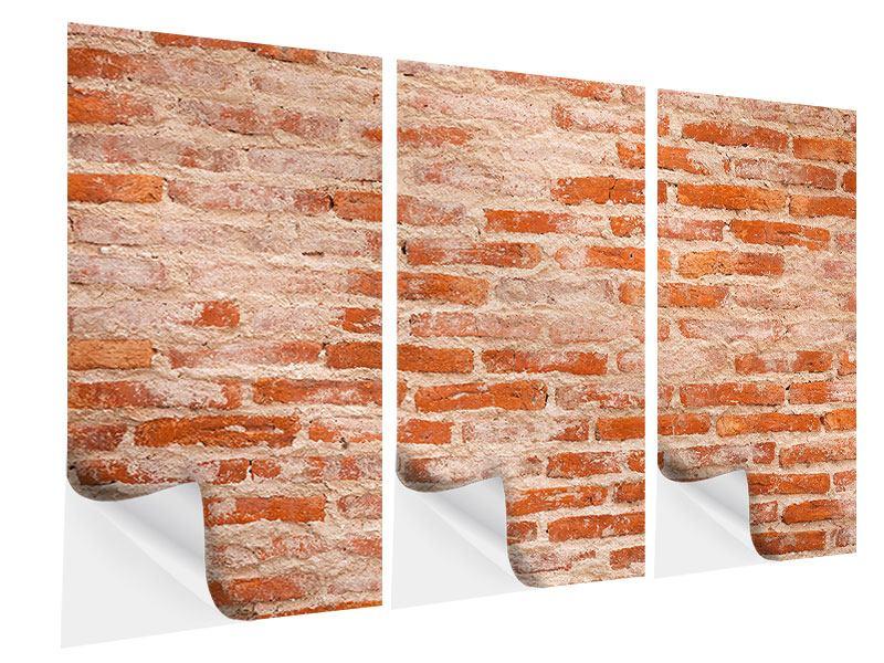 Klebeposter 3-teilig Mauerwerk
