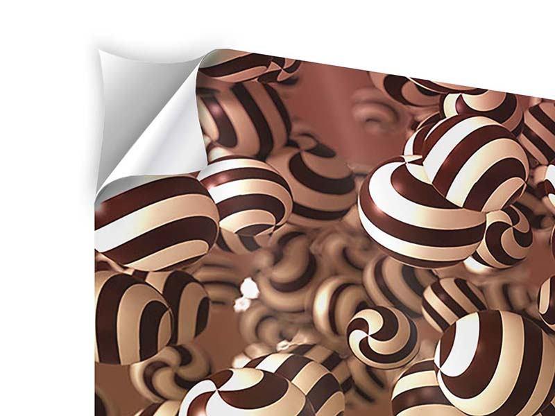 Klebeposter 3-teilig Schokoladen-Bonbons