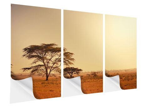 Klebeposter 3-teilig Weideland in Kenia