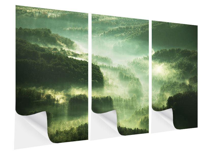 Klebeposter 3-teilig Über den Wäldern