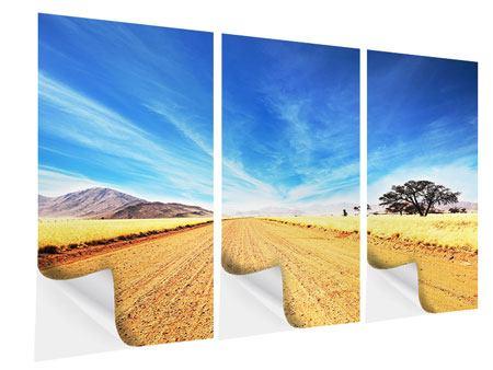 Klebeposter 3-teilig Eine Landschaft in Afrika
