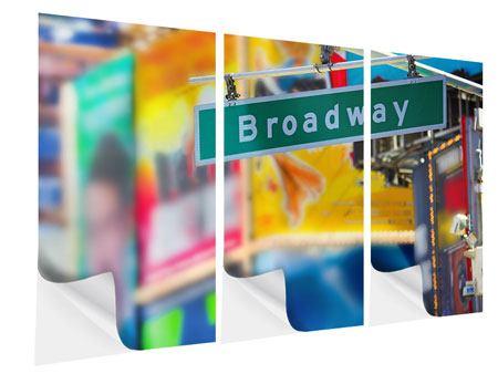 Klebeposter 3-teilig Broadway