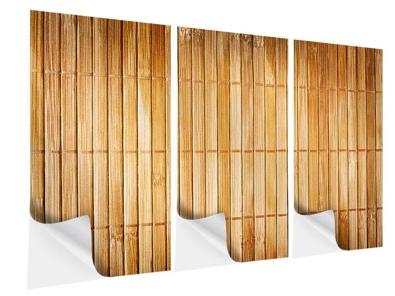 Klebeposter 3-teilig Bambusrohre