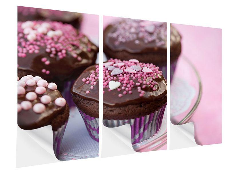 Klebeposter 3-teilig Muffins