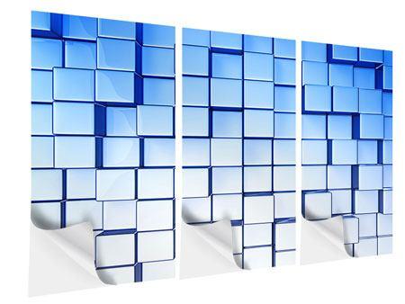 Klebeposter 3-teilig 3D-Symetrie