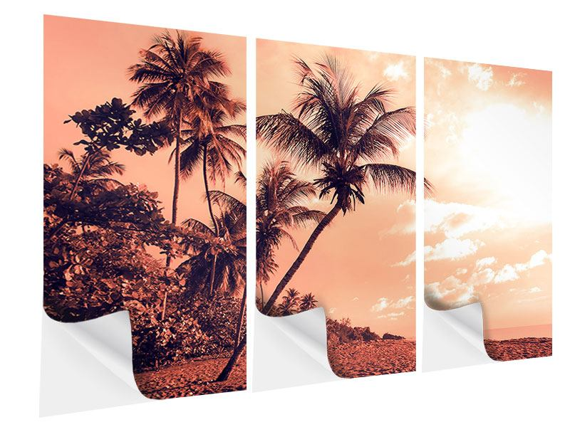 Klebeposter 3-teilig Tropenparadies