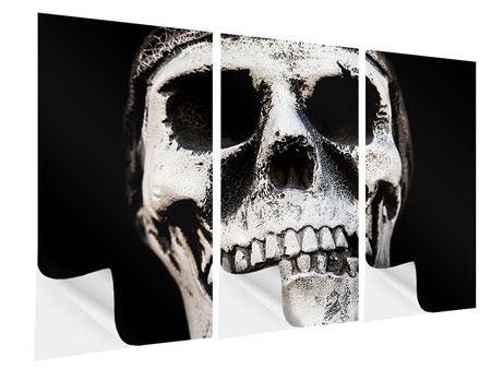 Klebeposter 3-teilig Skull
