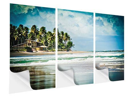 Klebeposter 3-teilig The Beach