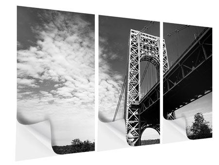 Klebeposter 3-teilig Georg-Washington-Bridge