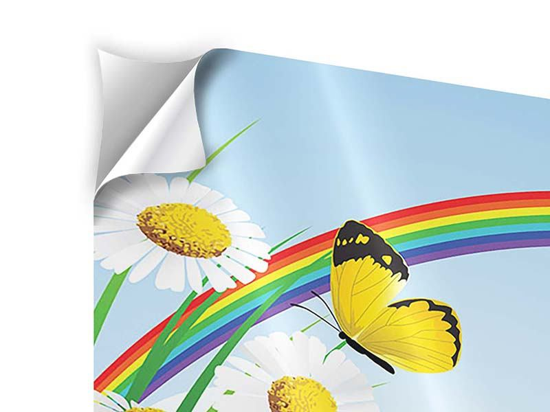 Klebeposter 3-teilig Der bunte Regenbogen