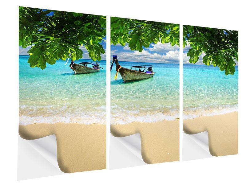 Klebeposter 3-teilig Ein Blick auf das Meer