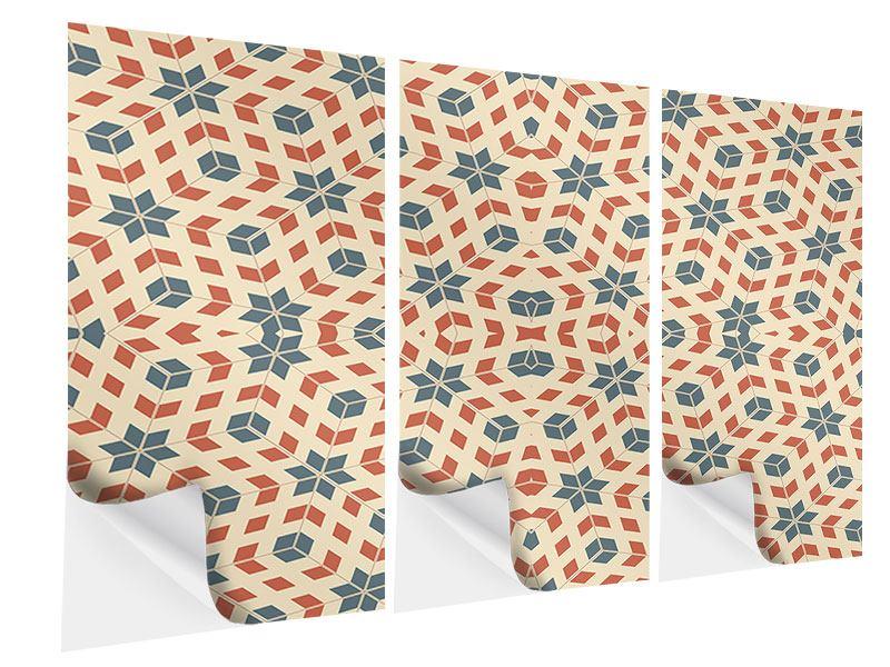 Klebeposter 3-teilig Pop Art Style