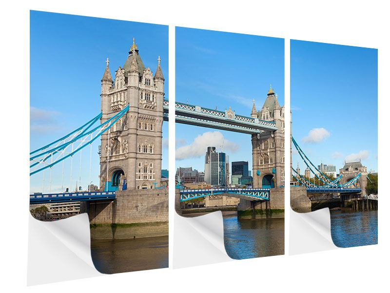 Klebeposter 3-teilig Die Tower Bridge