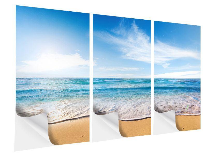 Klebeposter 3-teilig Spuren im Sand