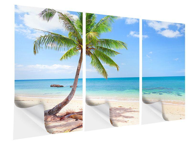 Klebeposter 3-teilig Die eigene Insel