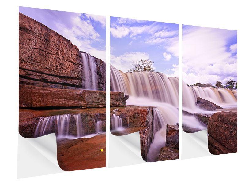 Klebeposter 3-teilig Himmlischer Wasserfall