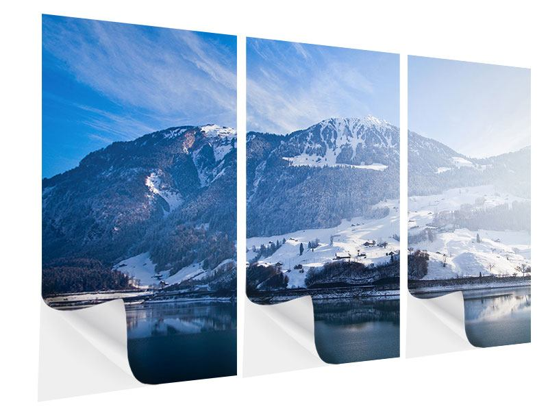 Klebeposter 3-teilig Winterwunderland