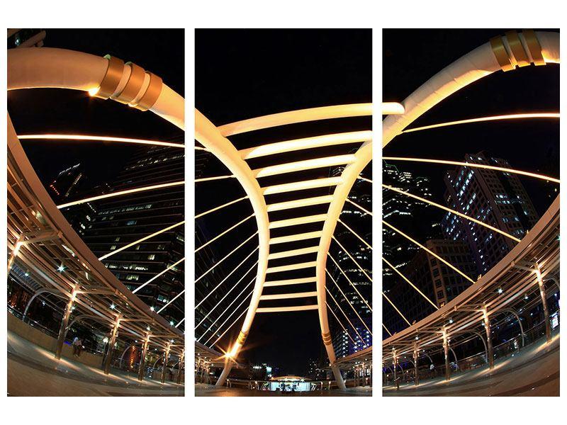 Klebeposter 3-teilig Avantgardistische Brücke
