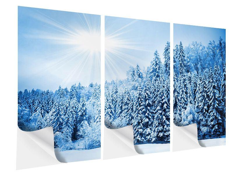 Klebeposter 3-teilig Wintermärchen