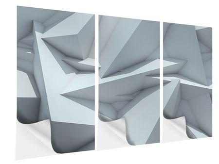Klebeposter 3-teilig 3D-Kristallo