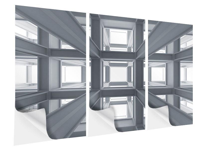 Klebeposter 3-teilig Räume