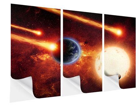 Klebeposter 3-teilig Der Kosmos