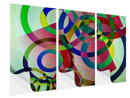 Klebeposter 3-teilig Wandkunst