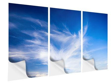 Klebeposter 3-teilig Schleierwolken