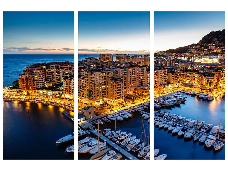 Klebeposter 3-teilig Monaco