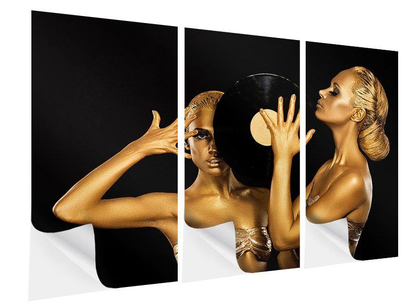 Klebeposter 3-teilig Gold-DJ`s