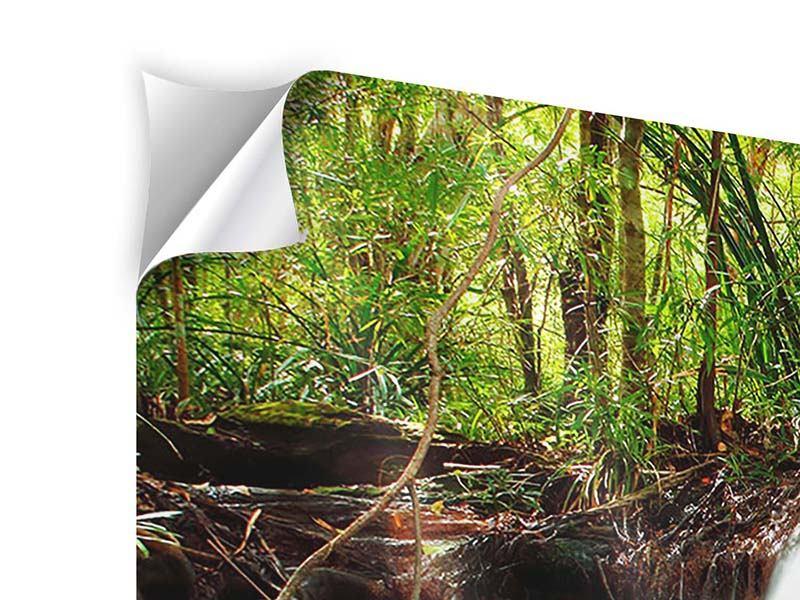 Klebeposter 3-teilig Der Fluss am Wasserfall
