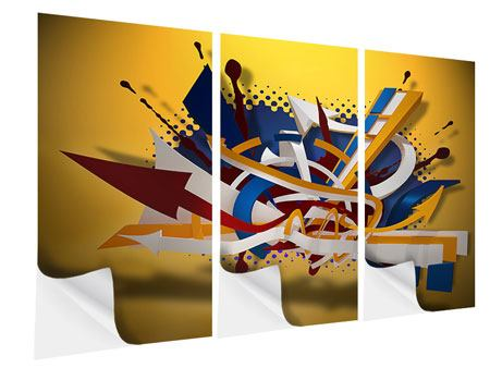 Klebeposter 3-teilig Graffiti Art
