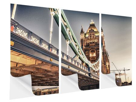 Klebeposter 3-teilig Tower Bridge XXL