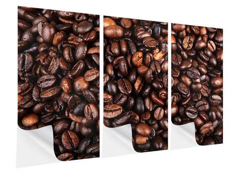 Klebeposter 3-teilig Kaffeebohnen in XXL
