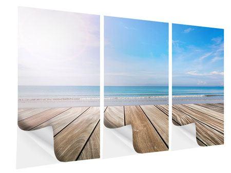Klebeposter 3-teilig Das schöne Strandhaus