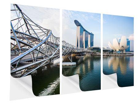 Klebeposter 3-teilig Singapur